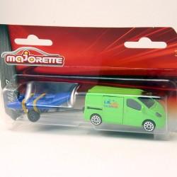 Renault Trafic avec Remorque - Majorette - 1/64ème sous blister