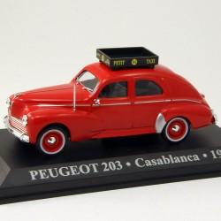 Peugeot 203 Taxi - Casablanca - 1960 - 1/43 ème En boite