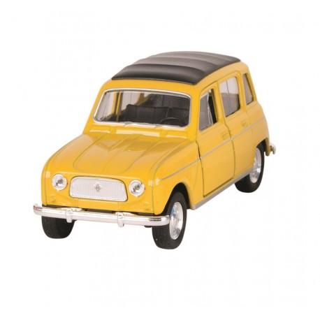 Renault 4L Jaune - Welly - 1/34-1/39 ème En boite