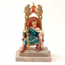 Roi sur son Trone - Andréa Miniature 1998 - En Plomb