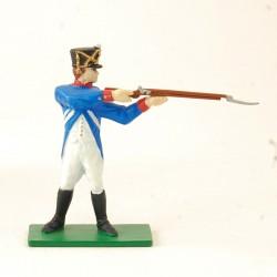 Soldat Napoléonien Fusil en joue - Blue Box - En plomb