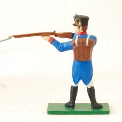Soldat Napoléonien fusil à l'épaule - Blue Box - En plomb