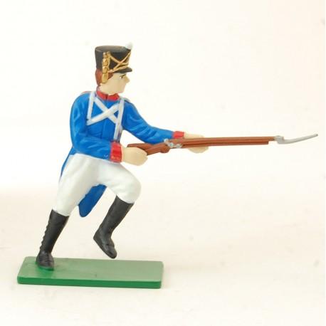 Soldat Napoléonien Contre Charge - Blue Box - En plomb
