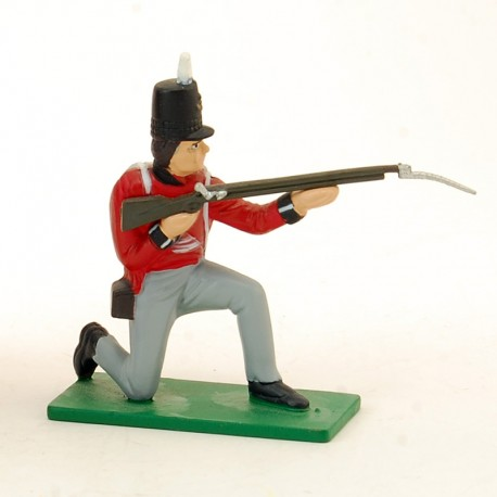 Soldat Britanique Fusil à l'épaule - Blue Box - En plomb