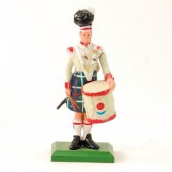Militaire ecossais avec son tambour - William Grant & Sons - En plomb
