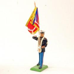 Porte Etendard Marines - Britains - En plomb