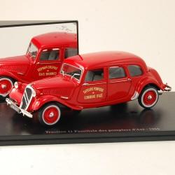 Citroen Traction 11 Familiale Pompiers d'Azé 1955 - Atlas - 1/43ème en boite