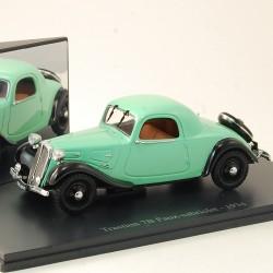 Citroen Traction 7B Faux Cabriolet 1934 - Atlas - 1/43ème en boite