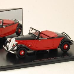 Citroen Traction Avant 11AL Cabriolet 1934 - Atlas - 1/43 ème En boite