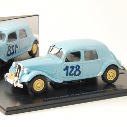 Citroen Traction Avant 15 six - Rallye de Sestrières 1951 - Atlas - 1/43 ème En boite
