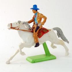 Cowboy à cheval blanc - Britains - 7,5 cm