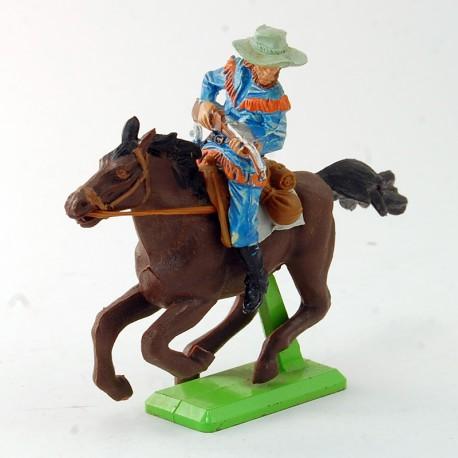 Cowboy à cheval marron - Britains - 7,4 cm