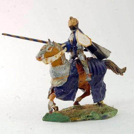 Chevalier avec lance à cheval - 9 cm