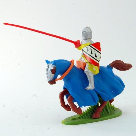 Chevalier avec lance et bouclier à cheval - 7.6 cm