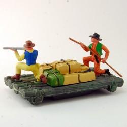 Radeau de Marchandise avec Cowboy - Britains - 5 cm