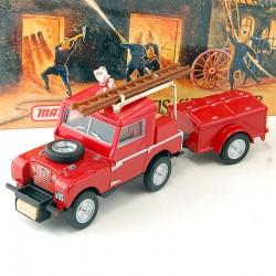 Camion de Pompier Land Rover Auxiliary - Matchbox - 1/43 ème En boite
