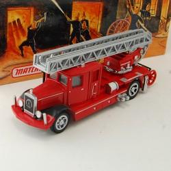 Camion de Pompier Mercedes Benz Ladder Truck 1932 - Matchbox - 1/43 ème En boite