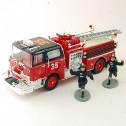 """Camion de Pompier Seagrave """" J """" Engine N°54 - Corgi - 1/50 ème En boite"""