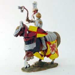 Cavalier avec son cheval - 10 cm