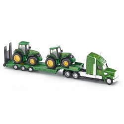 Camion Plateau Porte Tracteur John Deere - Siku - 1/87 ème En boite