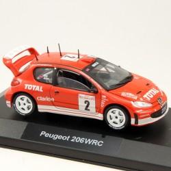 Peugeot 206 WRC - 1/43 ème En boite