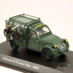 Citroen 2cv avec Vélo 1954 - La Poste - 1/43 ème En boite