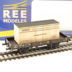 Wagon plat REE LTA-01 Le Train ,1/87ème