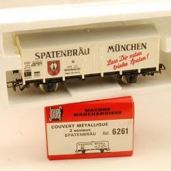 Wagon couvert métallique Spatenbrau 6261 - Jouef HO
