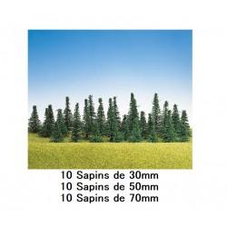 30 Sapins HO - Décoration Férroviaire - Faller - 1/87ème