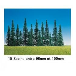 15 Sapins HO - Décoration Férroviaire - Faller - 1/87ème