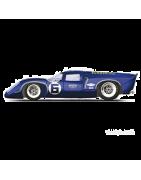 Voitures miniatures sur le thème des 24h du Mans, Audi, Matra, Sauber...