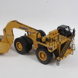 Caterpillar transporteur de véhicule de chantier - Norscot - au 1/50 sans boite